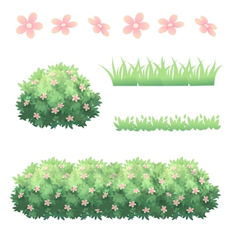 Heesters gras en bloem decoratie