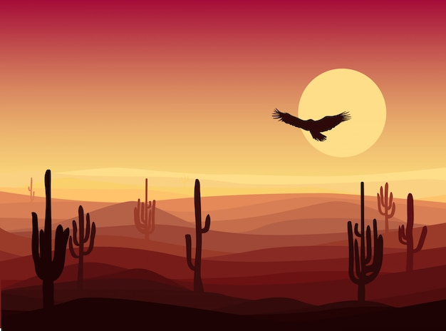 Heet zand woestijnlandschap