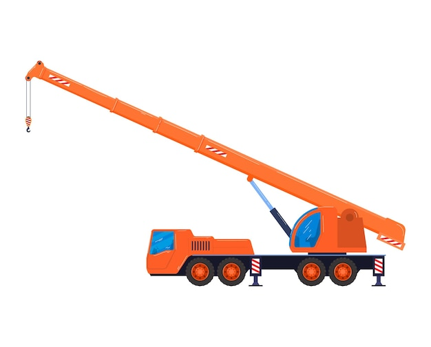 Heftruck auto industriële bulldozer in vlakke stijl