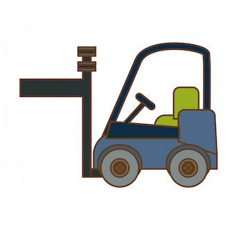 Heftruck vracht pictogram afbeelding