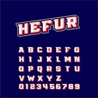 Hefur lettertype