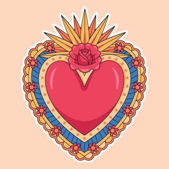 Heilig hart concept illustratie