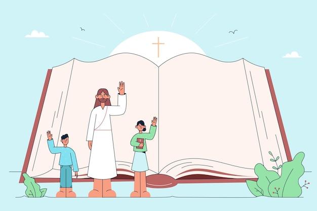 Heilige bijbel, christendom, religie concept