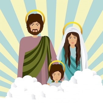 Heilige familie illustratie