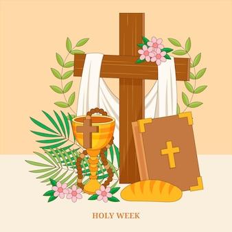 Heilige week illustratie