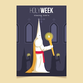 Heilige week poster sjabloon concept