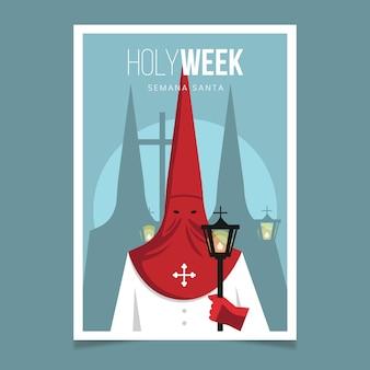 Heilige week poster sjabloon thema