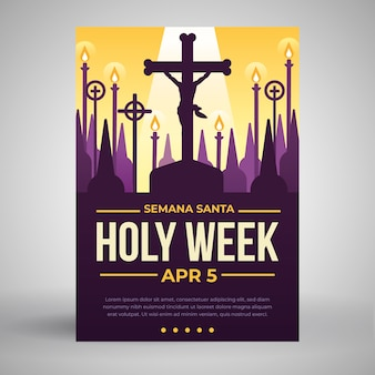 Heilige week poster sjabloon