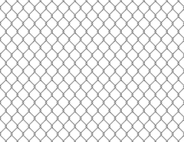 Hek ketting naadloos. metalen draadverbinding mesh naadloos patroon gevangenisbarrière beveiligd eigendom prikkeldraad muurstaal realistisch