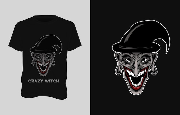 Heks illustratie t-shirt ontwerp