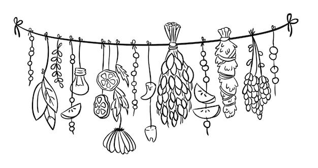 Heks kruiden boho hangende doodle decoratie