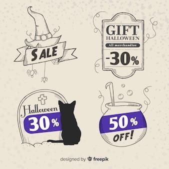 Heksenkortingen voor halloween-verkoop