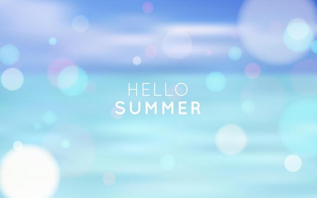 Hel zomer achtergrond met bokeh-effect