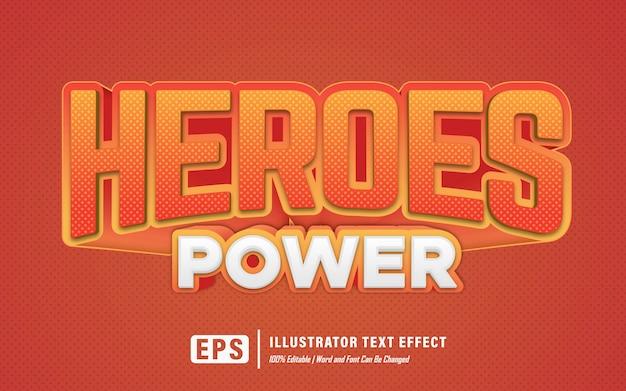 Helden kracht teksteffect - bewerkbaar
