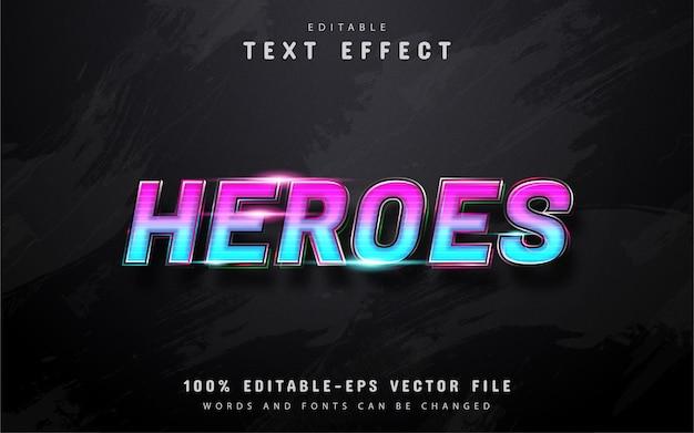 Helden verloop teksteffect