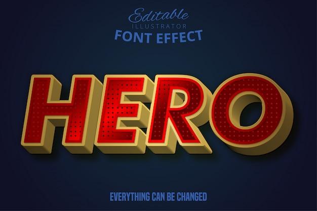 Heldentekst, bewerkbaar teksteffect.