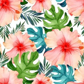 Helder aquarel bloemen naadloos patroon