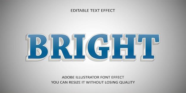 Helder bewerkbaar teksteffect