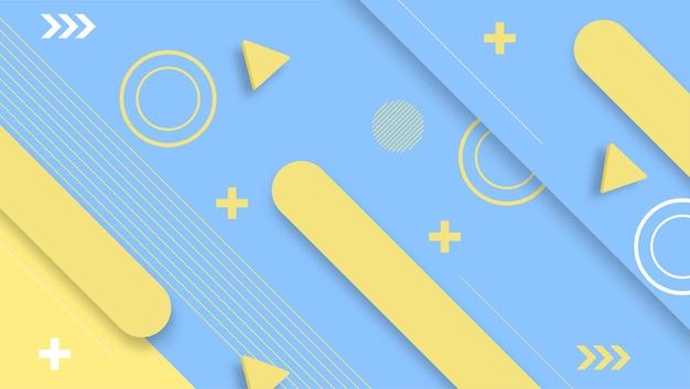 Helder blauw geel kleuren modern ontwerp als achtergrond