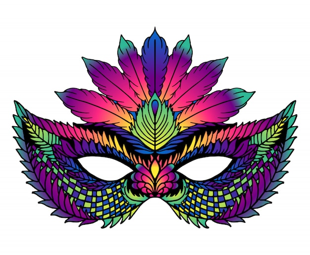 Helder carnaval masker. perfect voor carnavalvieringen