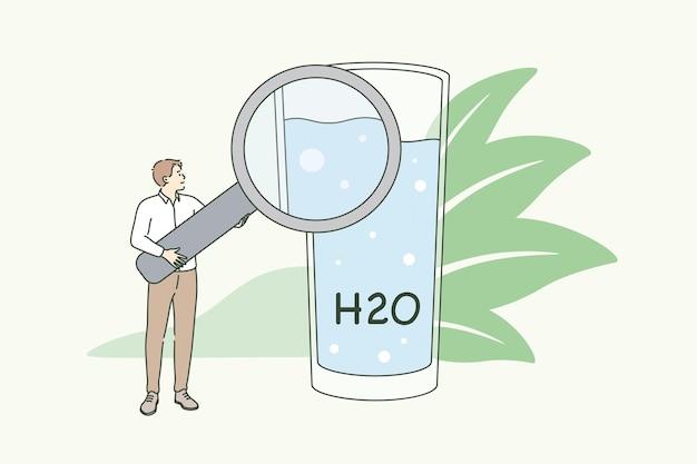 Helder drinkwater en lifestyle concept