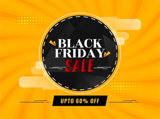 Helder gele zwarte vrijdag verkoop achtergrond