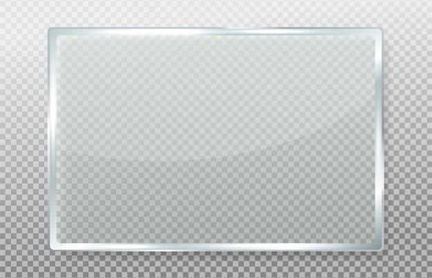 Helder glas met realistische reflecties.
