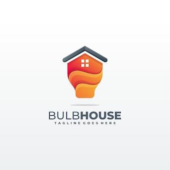 Helder licht huis sjabloon illustratie