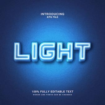 Helder licht teksteffect