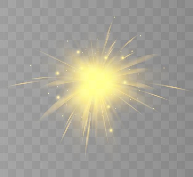 Helder lichteffect met stralen