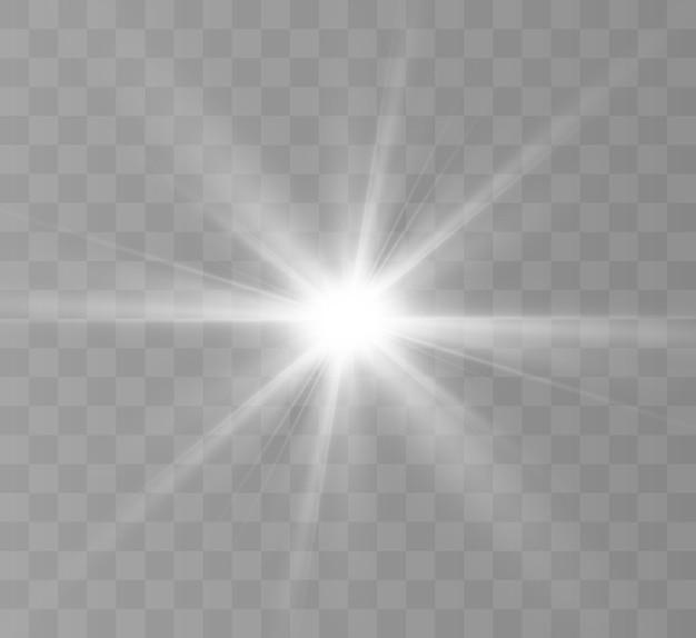 Helder lichteffect warme gloed voor vectorillustraties