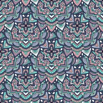 Helder naadloos paisley-patroon