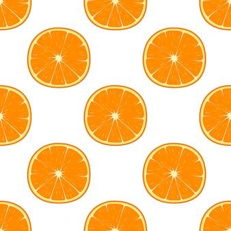 Helder naadloos patroon met sinaasappelen, vectorillustratie