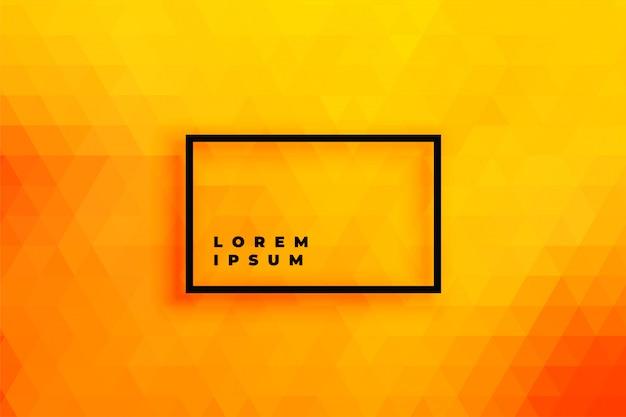 Helder oranje driehoek achtergrond