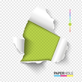 Helder rip edge-bannerconcept met stukjes papier afscheuren