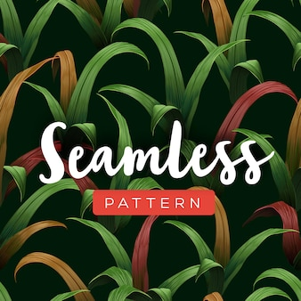 Helder tropisch naadloos patroon met jungleplanten. vector illustratie