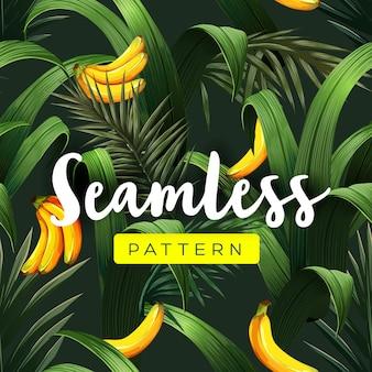 Helder tropisch naadloos patroon met jungleplanten.
