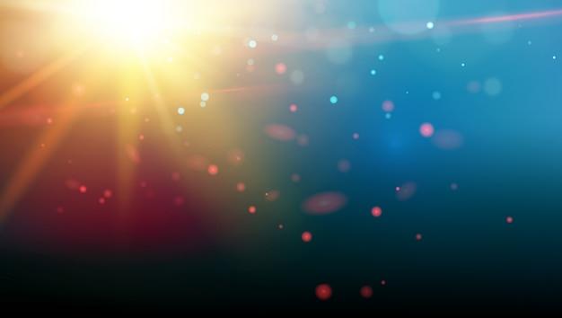 Helder vuur vonkt boven de diepe ultraviolette ruimte