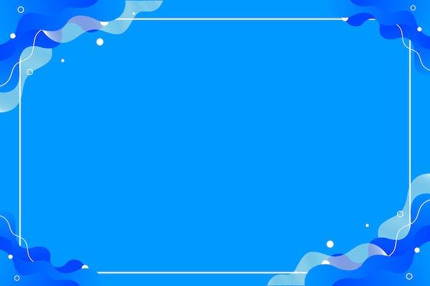 Helderblauwe abstracte vloeistofstroom achtergrondsjabloon