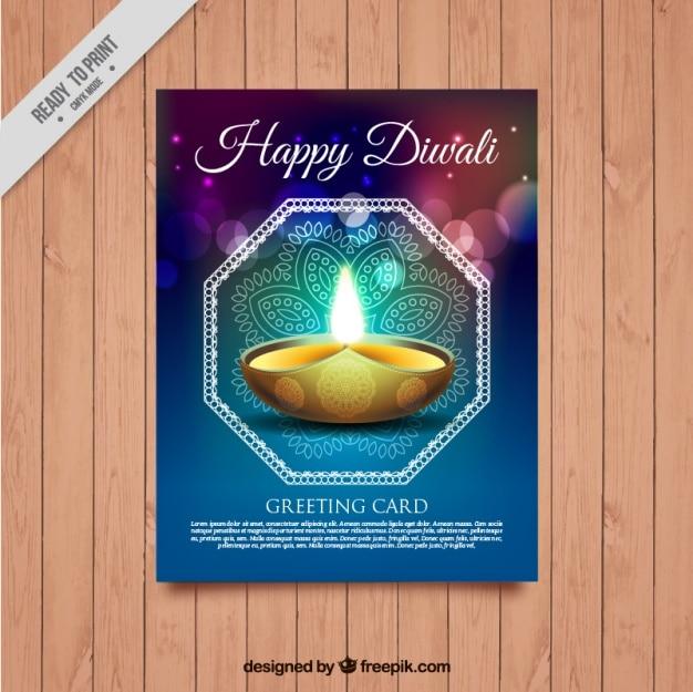 Heldere abstracte diwali festival brochure