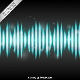 Heldere audio wave achtergrond