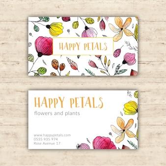 Heldere bloemenwinkel visitekaartje