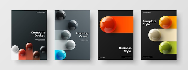 Heldere boekomslag a4 vector ontwerp lay-out bundel