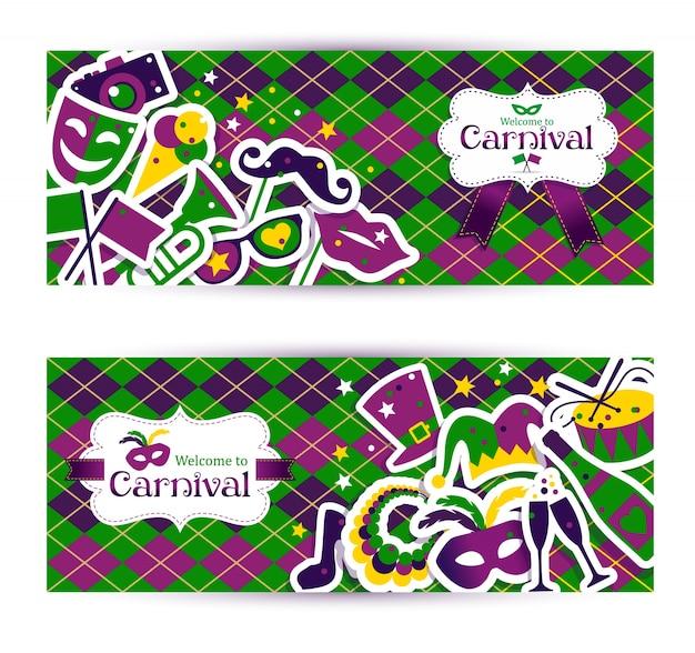 Heldere carnavalsbanners