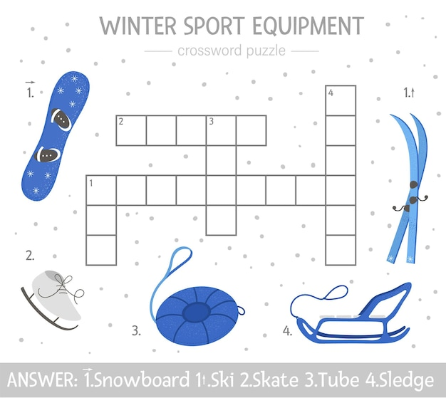 Heldere en kleurrijke winterquiz voor kinderen.