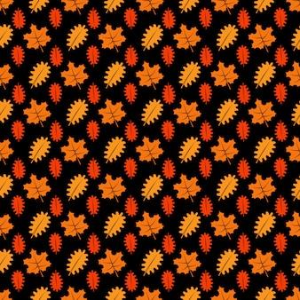 Heldere esdoorn en eikenbladeren naadloos patroon