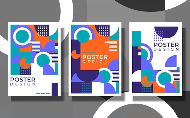 Heldere frisse kleur abstracte achtergrond omslagontwerp