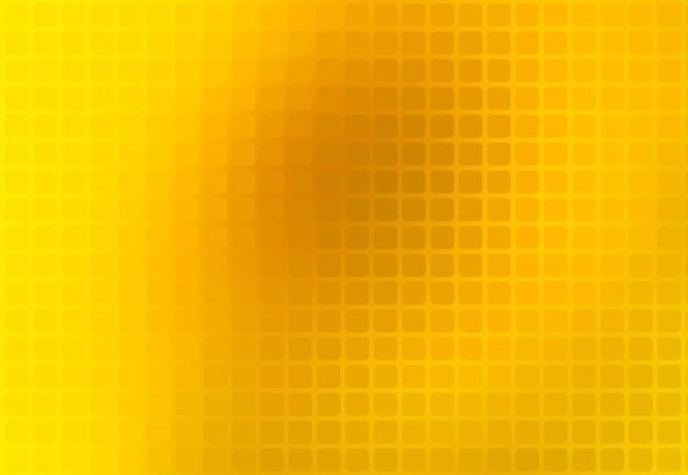 Heldere goudgele abstracte afgeronde mozaïekachtergrond