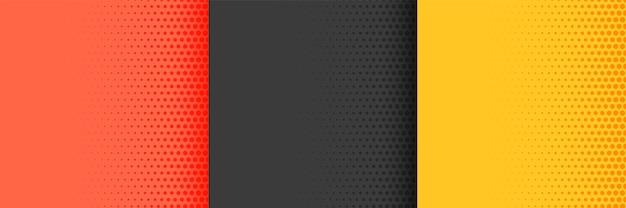 Heldere halftone achtergrond in rode, gele en zwarte kleuren