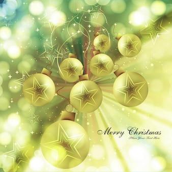 Heldere kerstballen achtergrond